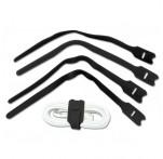 Hook & Loop Cable Tie 200mm, Black, 10-pk