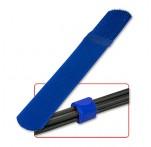 Hook & Loop Cable Tie 300mm, Blue, 10-pk