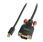 1m Mini DisplayPort To VGA Passive Cable, Black