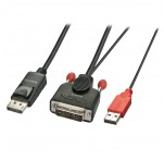 2m DVI-D (with USB) to DP Active Adapter Cable