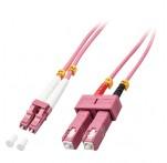 2m Fibre Optic Cable, LC-SC, 50/125μm OM4