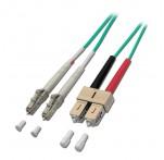 15m Fibre Optic Cable, LC-SC, 50/125μm OM3