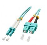 Fibre Optic Cable, 50/125μm OM3, LC-SC, 1m