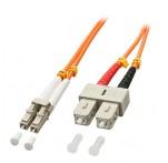 Fibre Optic Cable, 50/125μm OM2, LC-SC, 20m