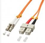 15m Fibre Optic Cable, LC-SC, 50/125μm OM2