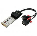 2 Port RS-232 Serial CardBus Adapter