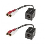 CAT6 Stereo Audio Extender, 100m