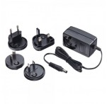 Multi Country AC Power Adapter, 12VDC 1.25A