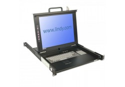 "KVM Terminal with 17"" LCD Display, Single Rail"