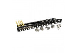 24 Port CAT6a Keystone Patch Panel