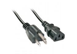 2m USA Power Cable 3-Pin Plug to IEC C13 Socket