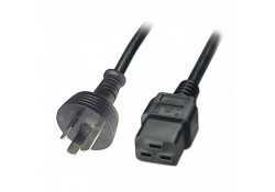 1m Power Cable 15A 3-pin Plug to IEC C19 Socket