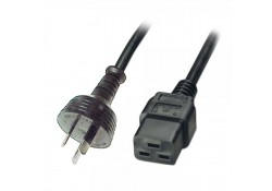 2m Power Cable 10A 3-pin Plug to IEC C19 Socket, B