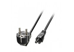 2m Euro Power Cable 3-Pin Plug to IEC C5 Socket