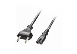 2m Euro Power Cable 2-Pin Plug to IEC C7 Socket