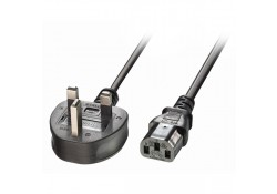 UK Power Cable 3-Pin Plug to IEC C13 Socket, 5m