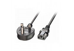 3m UK Power Cable 3-Pin Plug to IEC C13 Socket