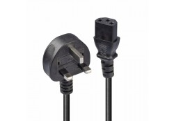 2m UK Power Cable 3-Pin Plug to IEC C13 Socket