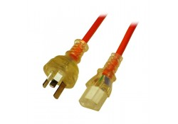 1.5m Medical Power Cable 3-pin Plug to C13 Socket