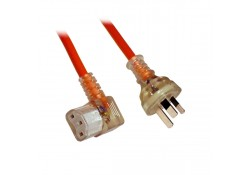 Medical Power Cable 3-pin to R/A C13 Socket, 3m