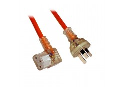 2m Medical Power Cable 3-pin to R/A C13 Socket