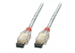 Premium FireWire Cable 6P / 6P, Transparent, 0.3m