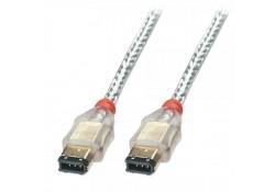 Premium FireWire Cable 6P / 6P, Transparent, 1m
