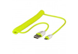 USB 2.0 Coiled Cable, Type A to Micro-B, 1.6m