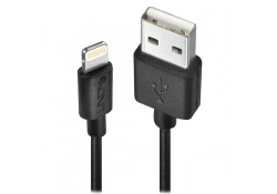 USB to Apple Lightning Cable, Black, 0.5m