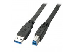 USB 3.0 Flat Cable, Type A to B, 2m