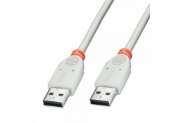 USB 2.0 Cable, Type A Male to A Male, 2m