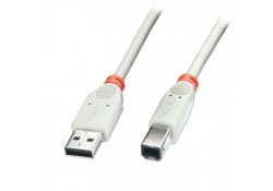 1m USB 2.0 Cable, Type A to B, Grey