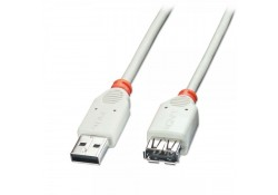 USB 2.0 Extension Cable, Grey, 2m
