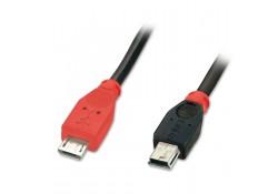 0.5m USB OTG Cable, Type Micro-B to Mini-B