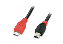 2m USB OTG Cable, Type Micro-B to Mini-B