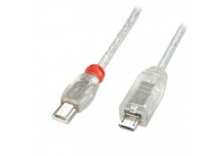 USB OTG Cable, Type Mini-A to Micro-B, 2m