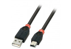 USB 2.0 Cable, Type A to Mini-B, 2m
