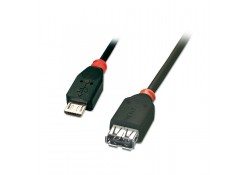 0.5m USB OTG Cable, Type Micro-B Male to A Female