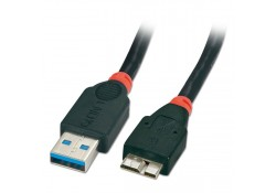0.5m USB 3.0 Cable, Type A to Micro-B, Black