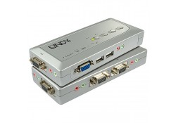 4 Port KVM Switch Compact VGA, USB & Audio