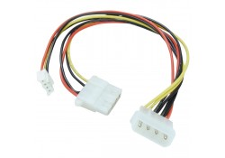 "5.25"" to 5.25""+3.5"" Power Splitter Cable, 25cm"