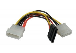 "5.25"" - SATA/5.25"" Power Adapter Splitter Cable, 1"