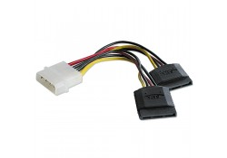 2x SATA Power Adapter Cable, 15cm