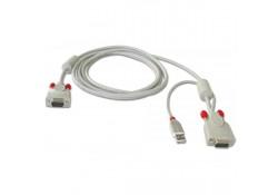 Combo VGA & USB KVM Cable for LINDY U8/U16, 3m