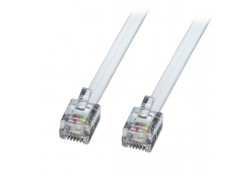 15m RJ-12 6P6C Cable, Crossover Wiring