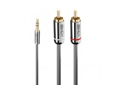 1m 3.5mm to Dual RCA Audio Cable, Cromo Line