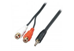 AV Adapter Cable, 2 x RCA Female to 3.5mm Male