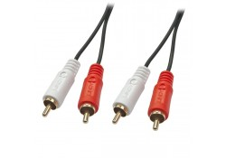 10m Premium 2 x RCA Stereo Audio Cable