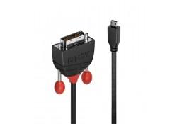 0.5m Micro HDMI to DVI-D Cable, Black Line
