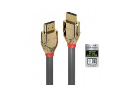 1m Ultra High Speed HDMI 2.1 Cable, Gold Line